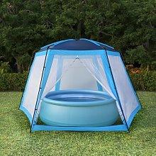Pool Tent Fabric 660x580x250 cm Blue