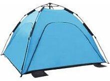 Pop Up Beach Tent 220x220x160 cm Blue - Blue -