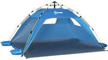 Pop-Up Beach Tent w/ 2 Mesh Windows 2 Doors Carry