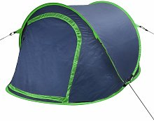 Pop-up Camping Tent 2 Persons Navy Blue / Green