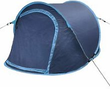 Pop-up Camping Tent 2 Persons Navy Blue / Light