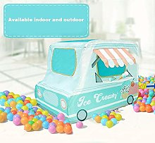 Pop Up Play Tent Playhouse, Truck Foldable Play
