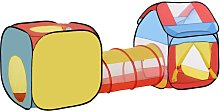 Pop-Up Play Tunnel House 3-in-1 Foldable