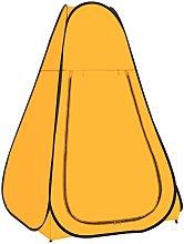 Pop Up Shower Tent Yellow - Vidaxl