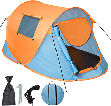 Pop up tent waterproof - blue/orange