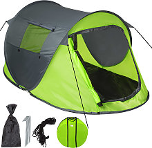 Pop up tent waterproof - grey/green