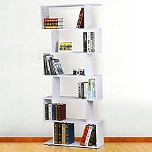 Popamazing 6 Tier 192cm Tall Wooden Cabinet White
