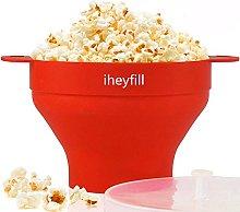 Popcorn popper, microwave popcorn maker folding