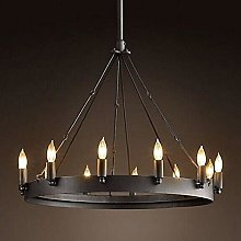 Popertr E14 12-Lights Iron Pendant Light Retro