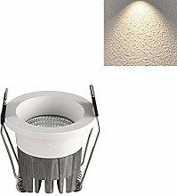 Popertr LED Small Spotlight Mini Round White