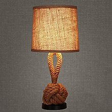 Popertr Retro Nostalgic Hemp Rope Table Light