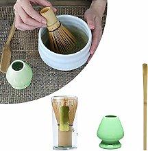 PopHMN Matcha Making Tool Set, Bamboo Tea Whisk