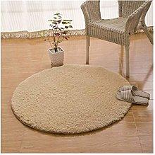 PoplarSun Round Fleece Bathroom Carpet Sofa Mat