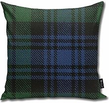 popluck Black Watch Tartan Home Decorative Throw