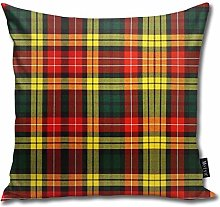 popluck Buchanan Tartan Square Pillow Office Sofa