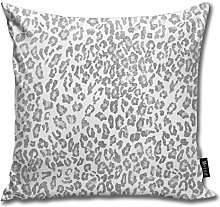 popluck Grey Leopard Pattern Shibori Gray And