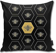 popluck Manchester Bee Square Pillow Office Sofa
