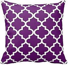 Poppy-Baby Purple and White Decorative Cushion