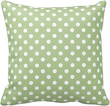 Poppy-Baby Sage Green and White Polka Dots Design