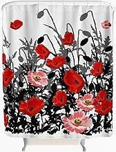 Poppy Shower Curtain Anti-Mould Waterproof