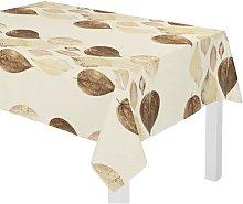 Poppy Tablecloth August Grove Colour: Brown/Cream,