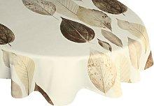 Poppy Tablecloth August Grove Colour: Brown/Cream