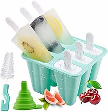 Popsicle Molds, 6 Pieces Silicone Ice Pop Molds