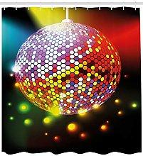 Popstar Party Shower Curtain Vivid Disco Ball