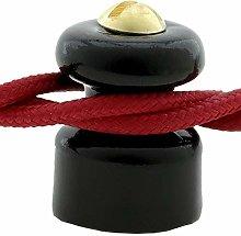 Porcelain Cable Management in Black for 2 or 3