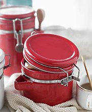 Porcelain Coffee Sealed Canister withValve