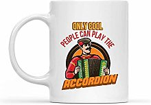 Porcelain Cup Accordion Player Only Cool People