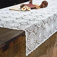 PORCELLANA Lace Fiore Tablecloth, Porcelain,