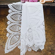 PORCELLANA Lace Mandorla Tablecloth, Porcelain