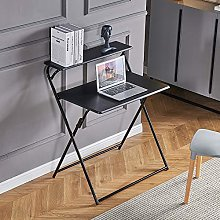 Portable 2-Tier Folding Laptop Desk Small Desk