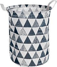 Portable 40x30cm Cotton Linen Laundry Basket