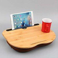 Portable Bamboo Laptop Table Pillow Lap Desk