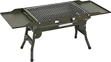 Portable Barbecue Grill with Shelf Design Folding