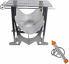 Portable BBQ Grill for Camping, Charcoal Barbecue