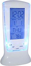 Portable Bedside Alarm Clock To Wake Up Blue LED