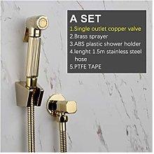 Portable Bidet Sprayer Brass Copper Valve Set