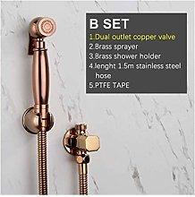 Portable Bidet Sprayer Rose Golden Copper Flusher