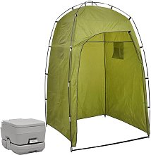 Portable Camping Toilet with Tent 10+10 L - Vidaxl