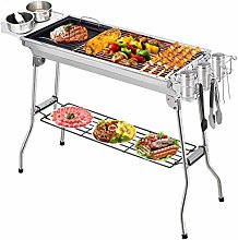 Portable Charcoal Barbecue with Double Folding