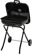 Portable Charcoal Grill BBQ with Wheels, 21.5