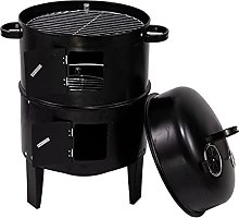 Portable charcoal grillwith Thermometer
