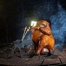 Portable Chicken Stand Beer Motorcycle BBQ