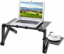 Portable Desk,360° Folding Adjustable Laptop