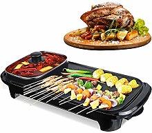 Portable Dual-Purpose Barbecue Grill Hot Pot, 2 in