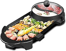Portable Electric Grill, 2-in-1 Electric Smokeless