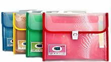 Portable Expanding Wallets 4 Sets of Color